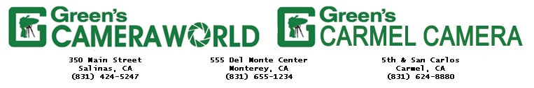 GREEN'S CAMERA WORLD LOGO